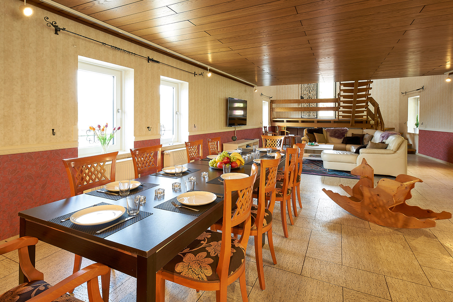 Ferienhaus Mosel-Herberge Wohn-/Esszimmer