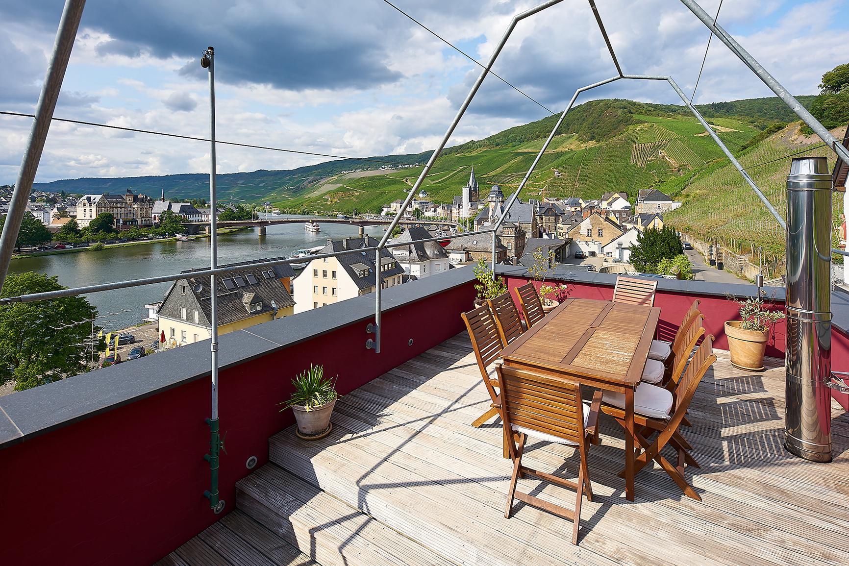 Ferienhaus Mosel-Herberge Terrasse