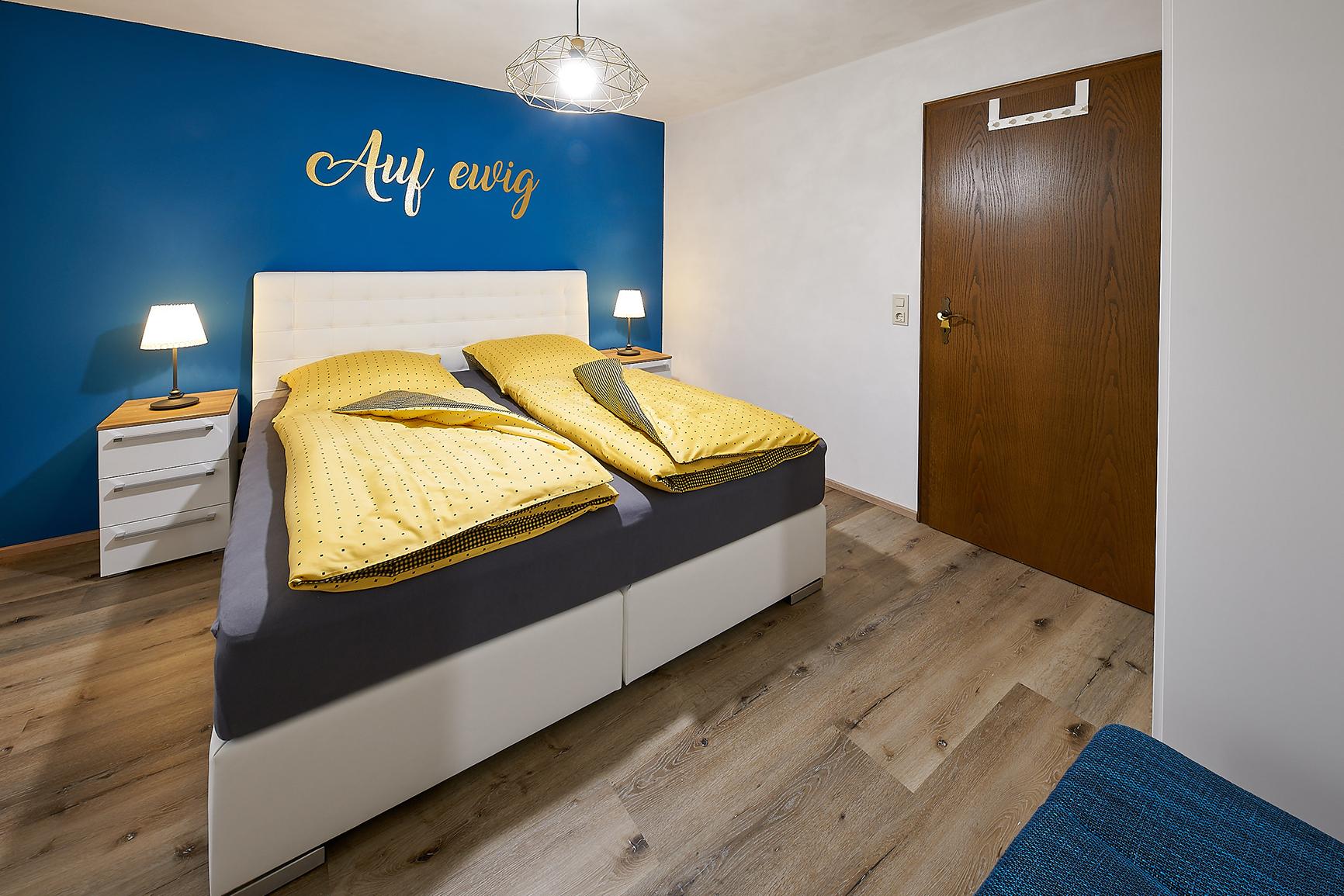 Ferienhaus Mosel-Herberge Schlafzimmer Auf ewig