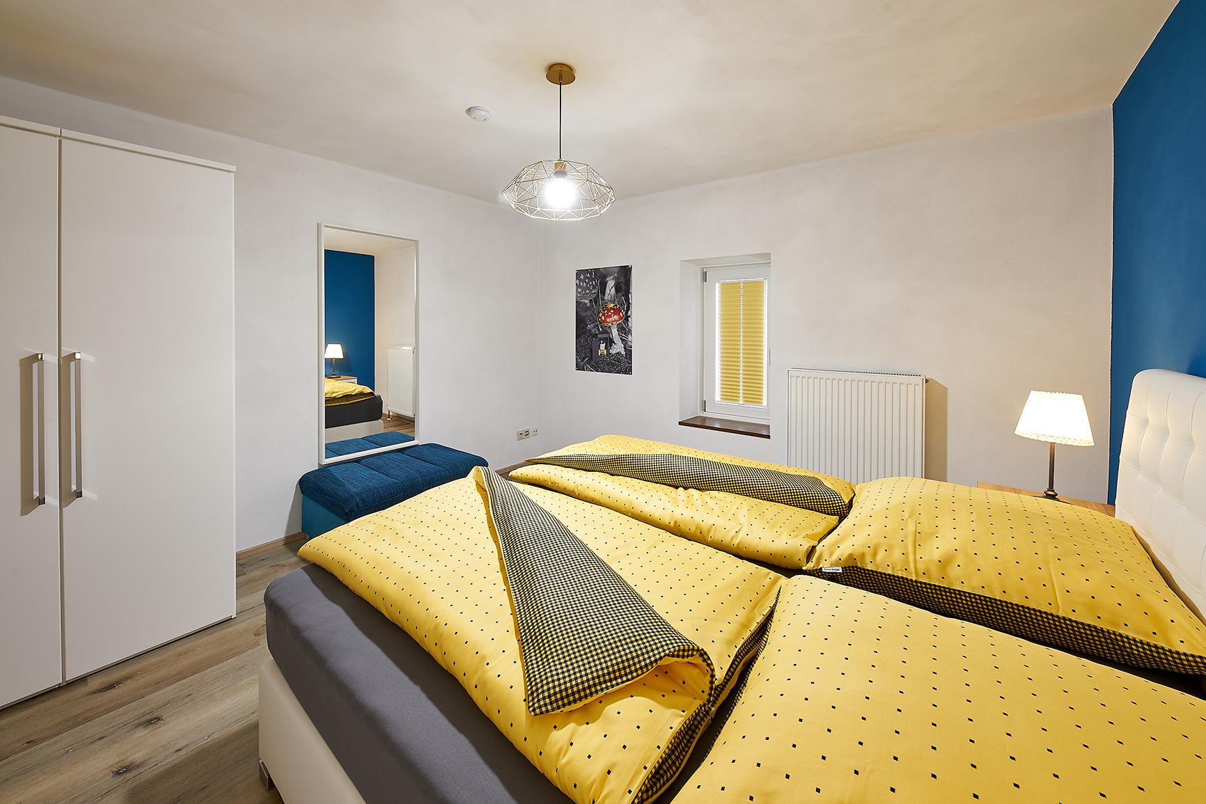 Ferienhaus Mosel-Herberge Schlafzimmer Geschäftemacher