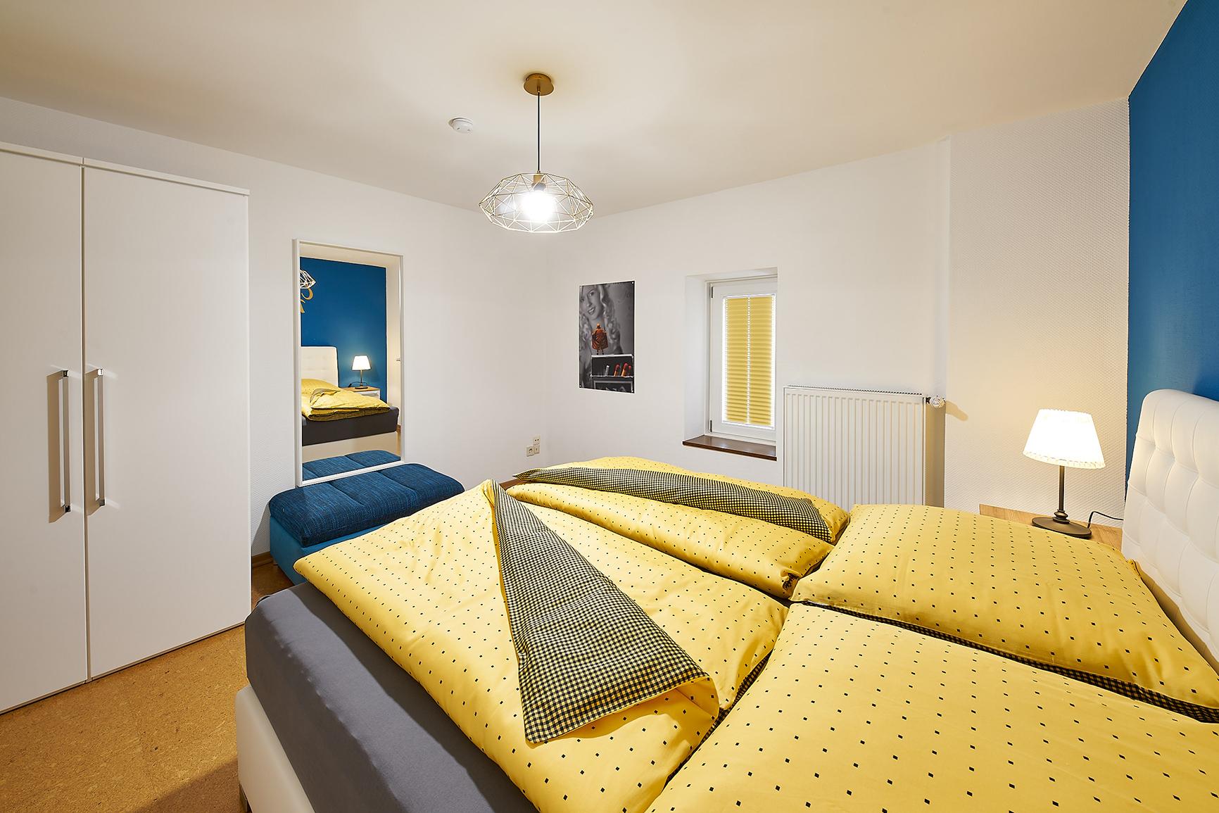 Ferienhaus Mosel-Herberge Schlafzimmer Hingucker
