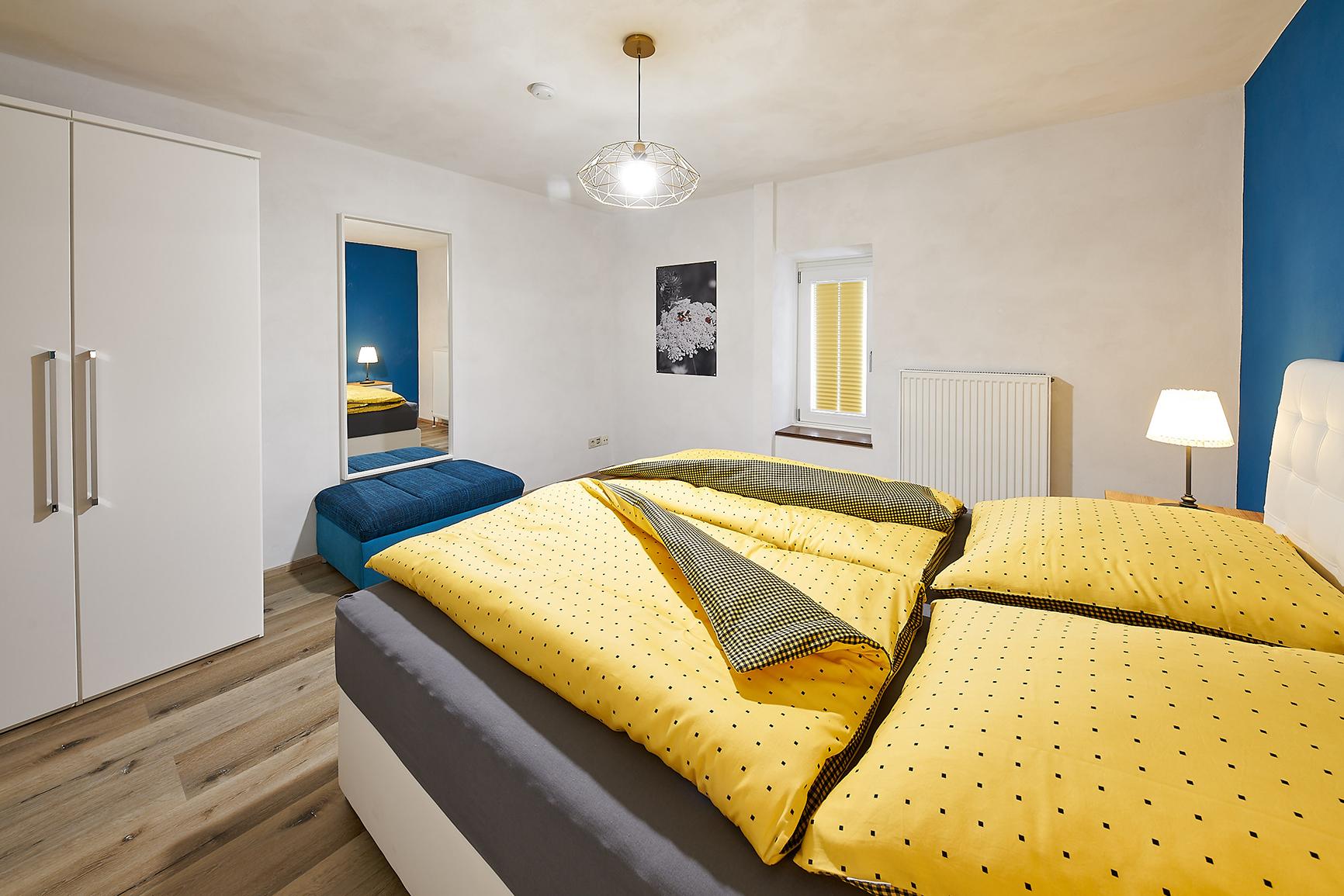 Ferienhaus Mosel-Herberge Schlafzimmer Wilde Möhre