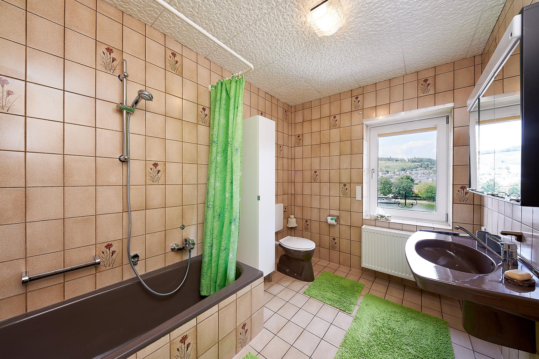Mosel-Herberge Badezimmer Wohnetage
